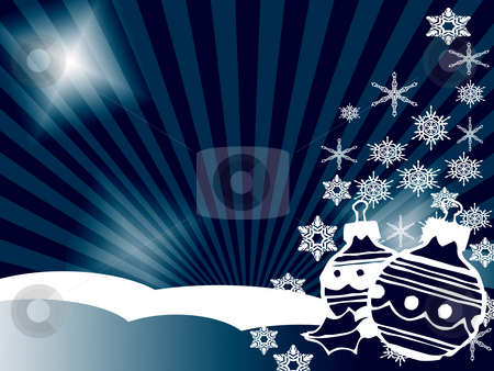Christmas stock photo, Christmas background in blue by Minka Ruskova-Stefanova