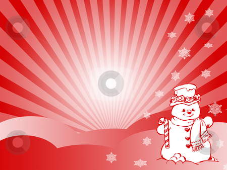 Snowman stock photo, Snowman by Minka Ruskova-Stefanova