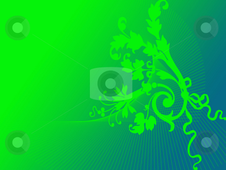 Floral ornament stock photo, Floral ornament on green background by Minka Ruskova-Stefanova