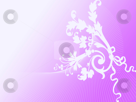Floral ornament stock photo, Floral ornament on lilac background by Minka Ruskova-Stefanova