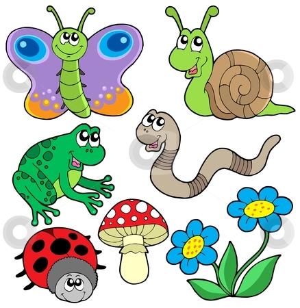 Small animals collection 2 stock vector clipart, Small animals collection 2 - vector illustration. by Klara Viskova