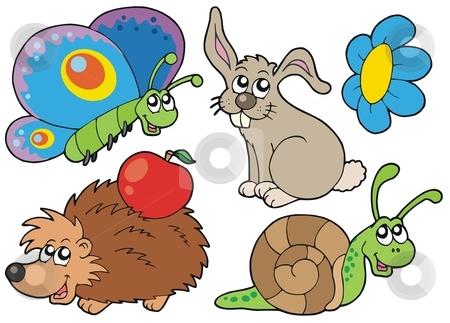 Small animals collection 7 stock vector clipart, Small animals collection 7 - vector illustration. by Klara Viskova