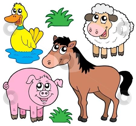 Farm animals collection 5 stock vector clipart, Farm animals collection 5 - vector illustration. by Klara Viskova