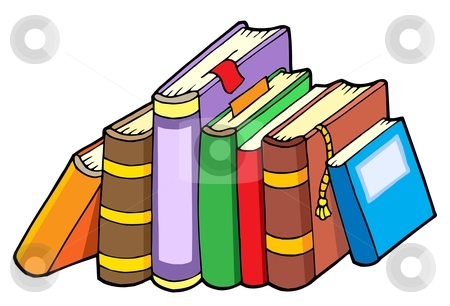 Line of various books stock vector clipart, Line of various books - vector illustration. by Klara Viskova