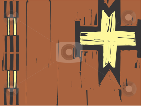 Native American Patterning Cross stock vector clipart, Native American pattern using images inspired by western pottery and blanket styles. by Jeffrey Thompson