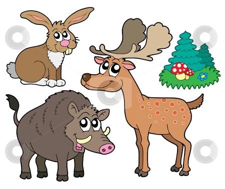 Forest animals collection 1 stock vector clipart, Forest animals collection 1 - vector illustration. by Klara Viskova