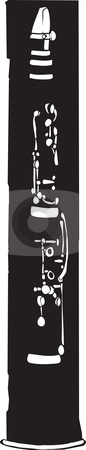 Clarinet stock vector clipart, Clarinet in negative space in something of a Jazz Age style. by Jeffrey Thompson