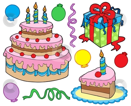 Birthday party collection 1b stock vector clipart, Birthday party collection 1b - vector illustration. by Klara Viskova
