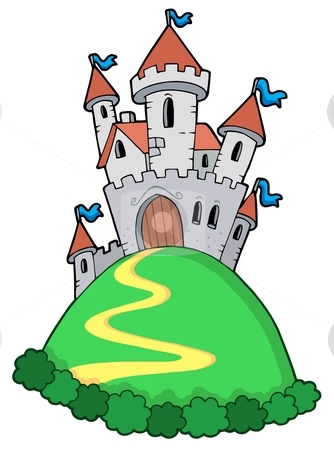 Fairy tale castle stock vector clipart, Fairy tale castle - vector illustration. by Klara Viskova