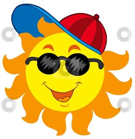 Cartoon Sun in baseball cap stock vector clipart, Cartoon Sun in baseball cap - vector illustration. by Klara Viskova