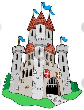 Medieval castle stock vector clipart, Medieval castle - vector illustration. by Klara Viskova