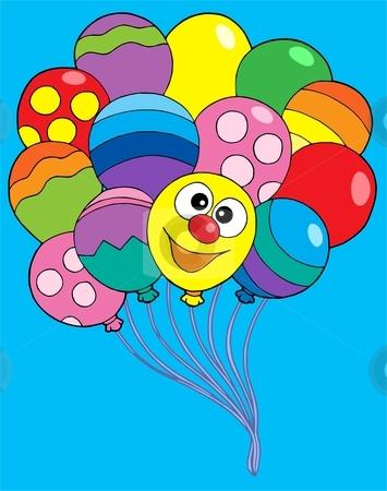 Various color balloons vector illustration stock vector clipart, Various color balloons - vector illustration. by Klara Viskova