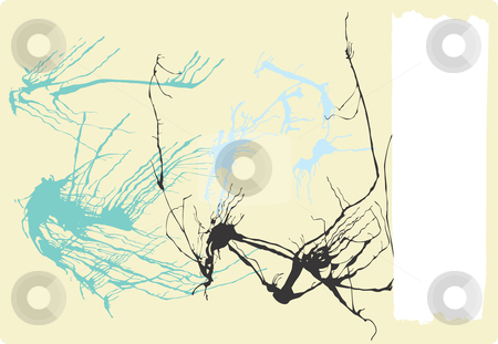 Abstact Banner Page stock vector clipart, Abstract Expressionist Background with banner. by Jeffrey Thompson