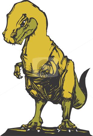 Tyrannosaurus Rex stock vector clipart, The dinosaur Tyrannosaurus Rex hunting for prey. by Jeffrey Thompson