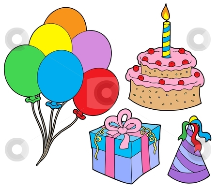 Birthday party collection stock vector clipart, Birthday party collection - vector illustration. by Klara Viskova