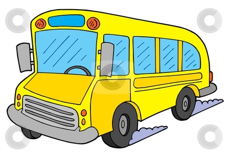 School bus vector illustration stock vector clipart, Yellow school bus - vector illustration. by Klara Viskova