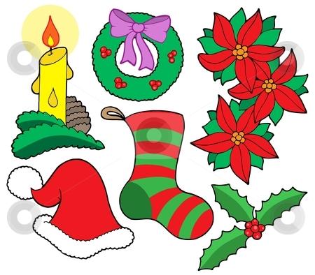 Isolated Christmas images stock vector clipart, Isolated Christmas images - vector illustration. by Klara Viskova
