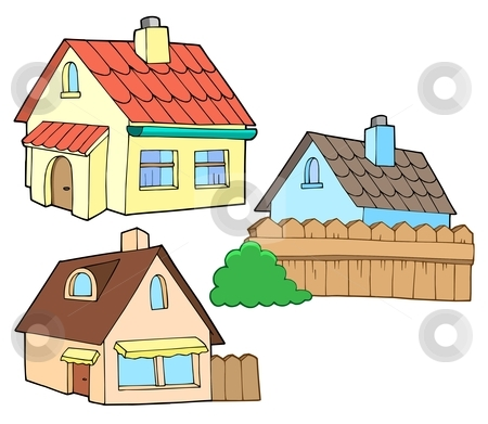 Collection of various houses stock vector clipart, Collection of various houses - vector illustration. by Klara Viskova