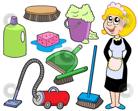 Cleaning collection 1 stock vector clipart, Cleaning collection 1 - vector illustration. by Klara Viskova