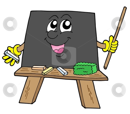 Cute blackboard stock vector clipart, Cute blackboard on white blackboard - vector illustration. by Klara Viskova