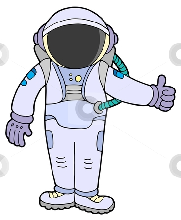 Astronaut stock vector clipart, Astronaut on white background - vector illustration. by Klara Viskova