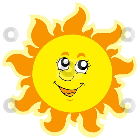 Cute summer Sun stock vector clipart, Cute summer Sun - vector illustration. by Klara Viskova