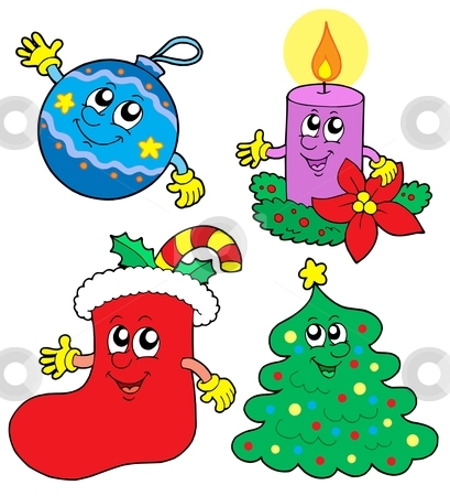 Cute Christmas illustrations collection stock vector clipart, Cute Christmas illustrations collection - vector illustration. by Klara Viskova