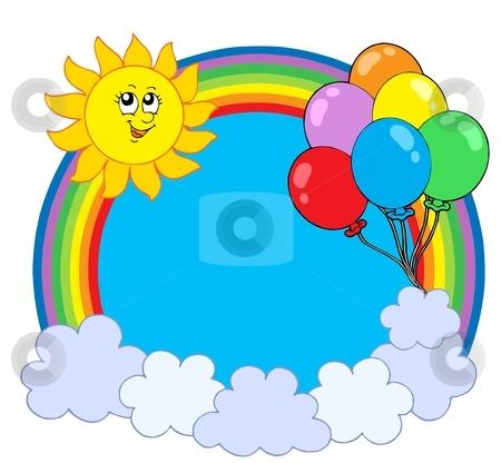 Party rainbow circle stock vector clipart, Party rainbow circle - vector illustration. by Klara Viskova