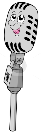 Cute retro microphone stock vector clipart, Cute retro microphone - vector illustration. by Klara Viskova