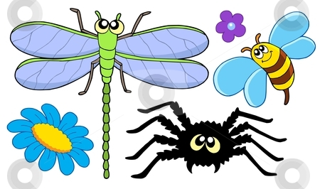 Cute insect collection stock vector clipart, Cute insect collection - vector illustration. by Klara Viskova