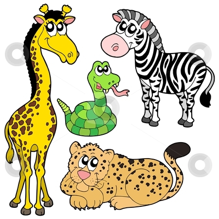 Zoo animals collection 2 stock vector clipart, Zoo animals collection 2 - vector illustration. by Klara Viskova