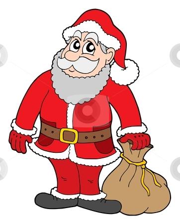 Santa Claus stock vector clipart, Santa Claus with gifts - vector illustration. by Klara Viskova