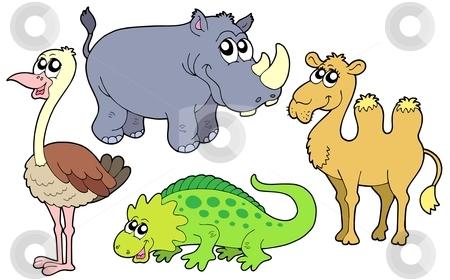 Zoo animals collection stock vector clipart, Zoo animals collection - vector illustration. by Klara Viskova