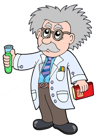 Cartoon scientist - stock vector clipart, Cartoon scientist - vector illustration. by Klara Viskova