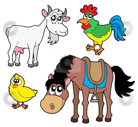 Farm animals collection 2 stock vector clipart, Farm animals collection 2 - vector illustration. by Klara Viskova