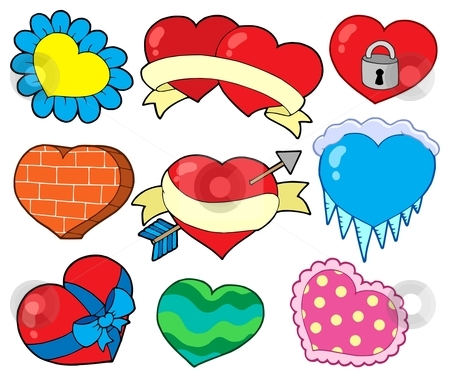 Valentine hearts collection 2 stock vector clipart, Valentine hearts collection 2 - vector illustration. by Klara Viskova
