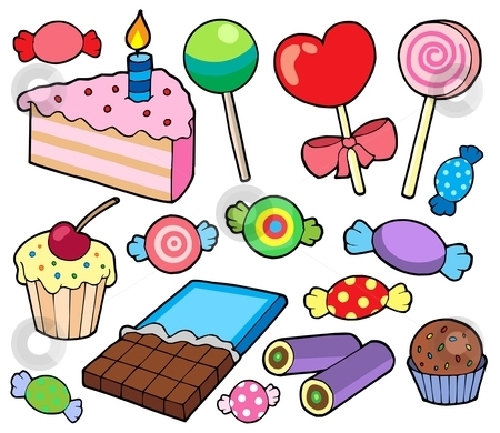 Candy and cakes collection stock vector clipart, Candy and cakes collection - vector illustration. by Klara Viskova