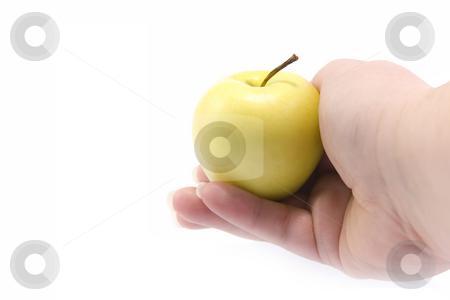 Hand with apple stock photo, Hand with apple by Minka Ruskova-Stefanova