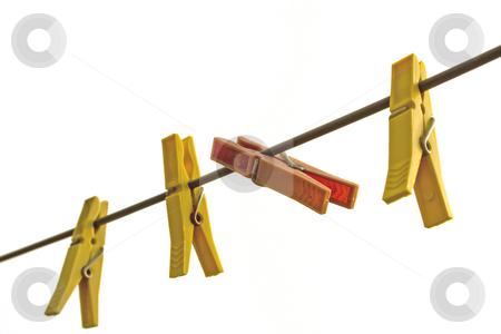 Chlotespin stock photo, Chlotespin on rope by Minka Ruskova-Stefanova