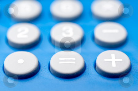 Shallow focus macro of buttons on a calculator stock photo, Shallow focus macro of buttons on a calculator by Vince Clements