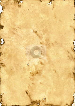 Old paper stock photo, Old brown paper background - historic document by J?