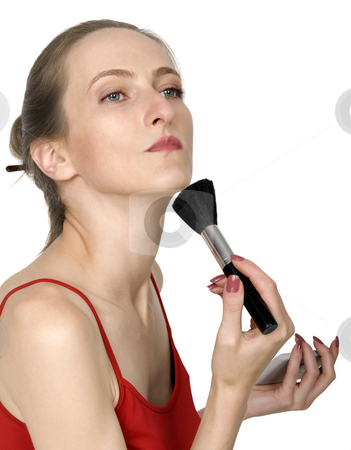 Makeup stock photo, Make up beautiful girl, isolated on white by Desislava Draganova