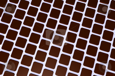 Tiles stock photo, Abstract background red tiles - 3d illustration by J?
