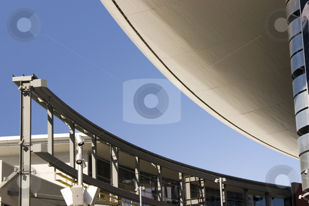 Abstract Building Roof in Las Vegas Strip with Monorail stock photo, Abstract Roof in Las Vegas by Mehmet Dilsiz