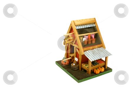 Halloween Decoration - Farm house stock photo, Halloween Decoration - Miniature Farm House by Mehmet Dilsiz