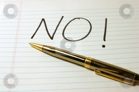 NO - Notepad & Pen stock photo, NO - Notepad & PenIsolated by Mehmet Dilsiz