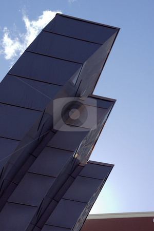 Abstract Building going into the sky at an angle stock photo, Abstract Building going into the sky at an angle in Las Vegas by Mehmet Dilsiz
