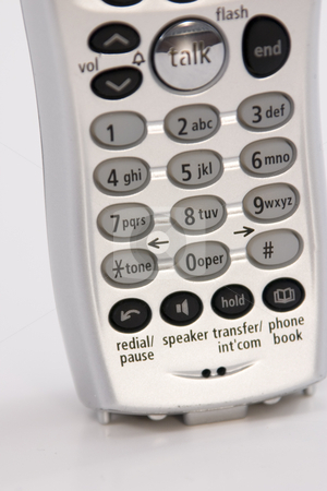 Isolated Telephone - Close Up stock photo, Close up on an Isolated Telephone by Mehmet Dilsiz