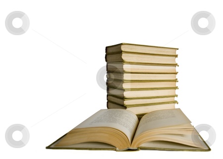 Old books  stock photo, Old books on white background by Minka Ruskova-Stefanova