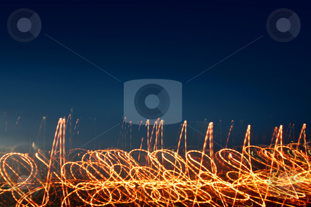 Abstract Background  stock photo, Abstract Dark Blue Background with Light Effects by Mehmet Dilsiz
